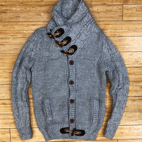 Young republic- shawl collar cable sweater