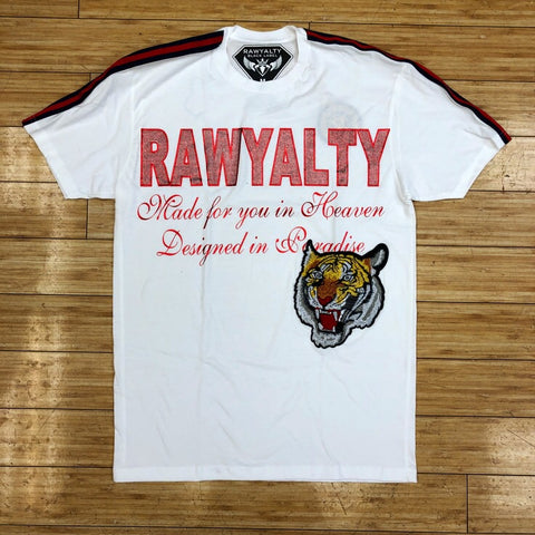 RAWYALTY - WHITE STRIPED TIGER TEE
