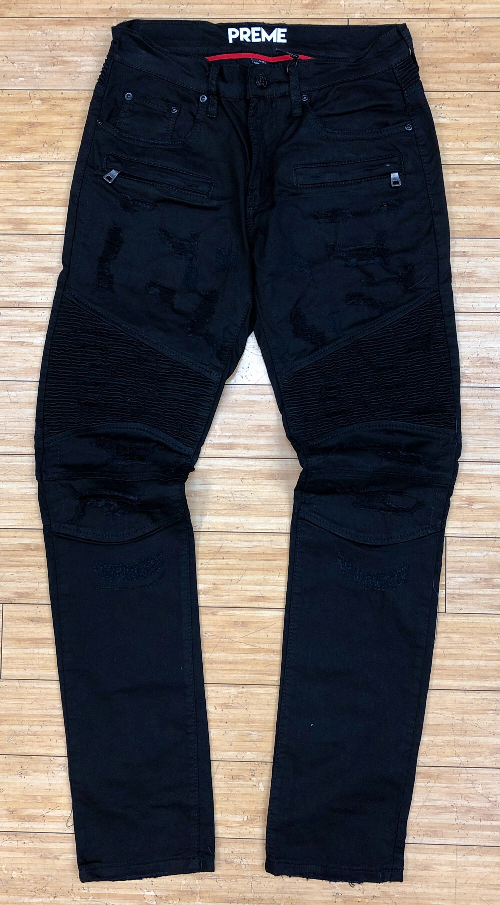 Preme- woven bottom denim jeans