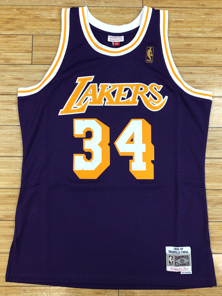 Mitchell   Ness- Shaquille O Neal 1996-97 Los Angeles Lakers swingman Jersey ad9f4b0b3