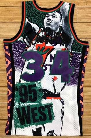 Mitchell & Ness- nba sublimated swingman jersey asw 95 Olajuwon