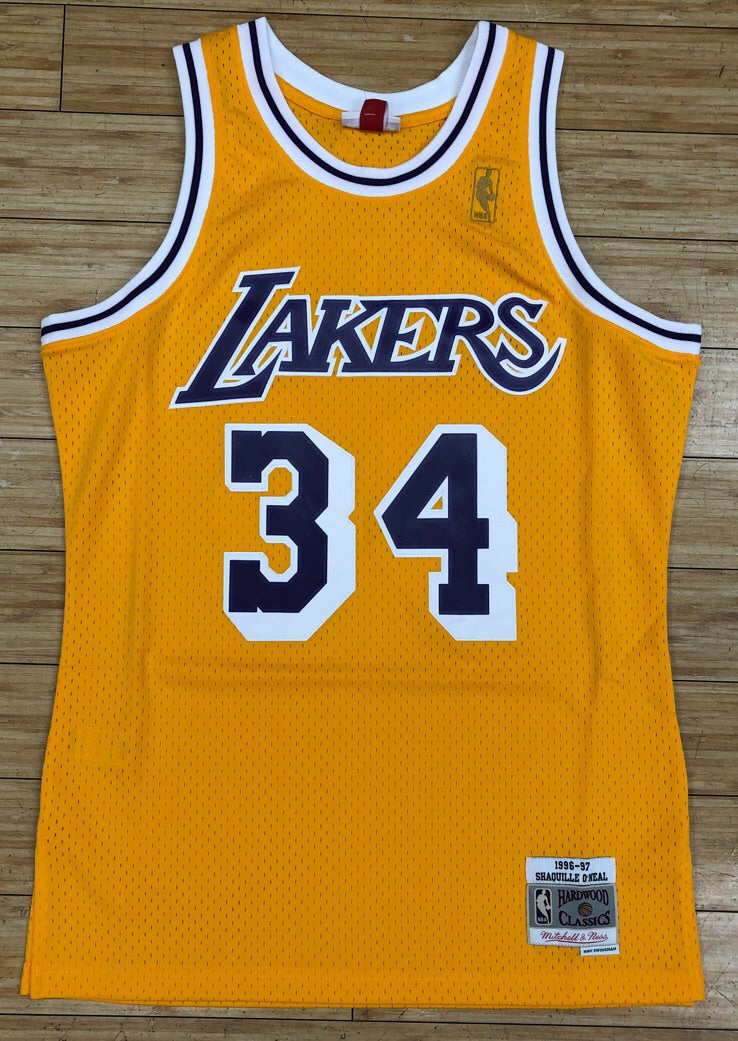 7e2e18eb54d6 Mitchell   Ness- Shaquille O Neal swingman Jersey Los Angeles Lakers ...