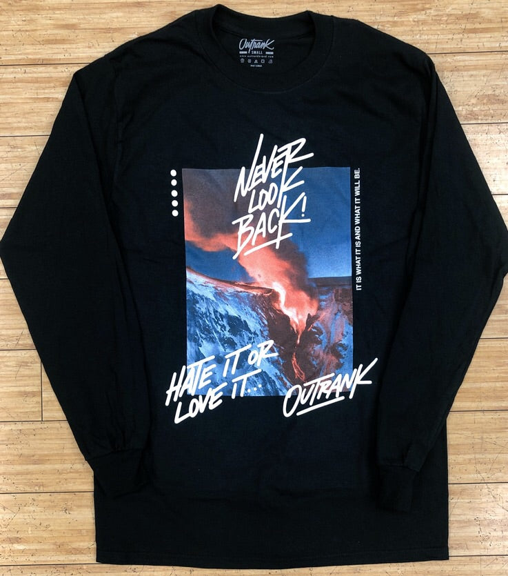 Outrank- never look back ls tee