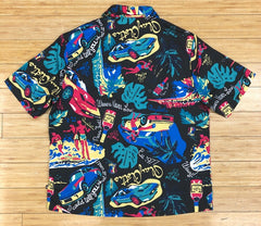 Playcloth- black maui as woven shirt