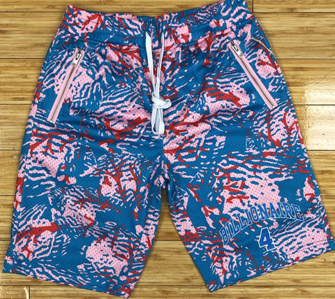 Billionaire boys club- bb coral camo shorts