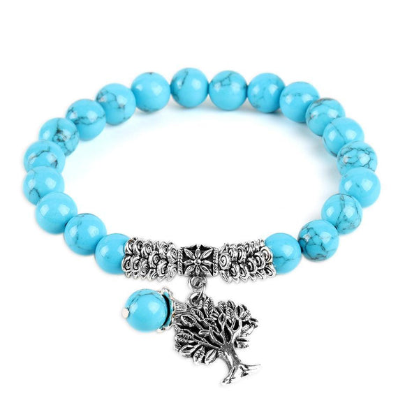 Bracelet bleu arbre de vie - TECH AND CASH