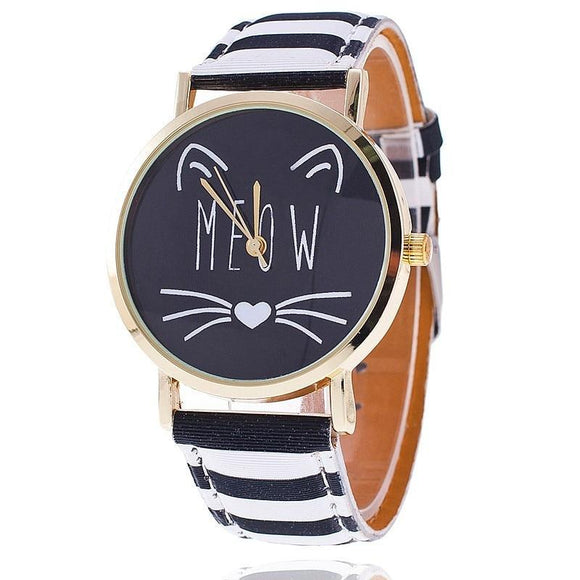 Montre Meow avec tête de chat - TECH AND CASH
