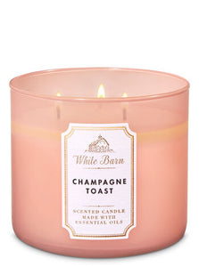 BATH & BODY WORKS | White Barn - CHAMPAGNE TOAST 3-Wick Candle