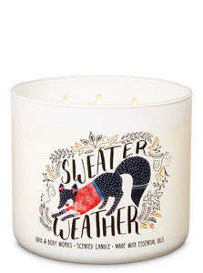 BATH & BODY WORKS - SWEATER WEATHER | 3-Wick Candle