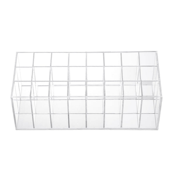 Lip Gloss Holder Organizer - 24 Spaces Clear Acrylic Makeup Lipgloss Display Case