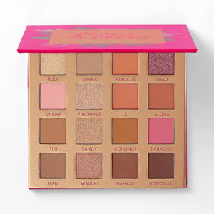 BH COSMETICS - HANGIN' IN HAWAII 16 COLOR EYESHADOW PALETTE