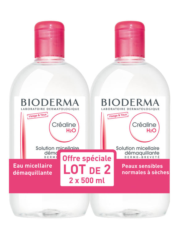 Bioderma - Créaline (Sensibio) H2O Micelle Solution 2 x 500ml
