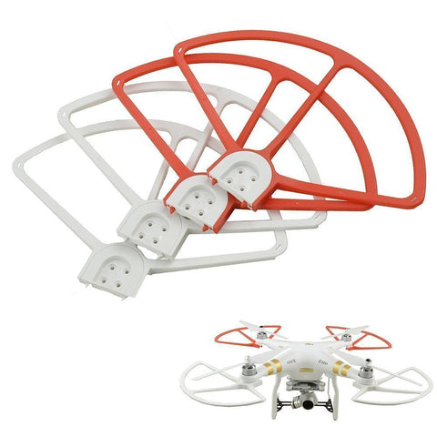 4 Pieces/lot, DJI Phantom 3 Prop Protector Propeller Guard Bumper Protector for Phantom 3 Quadcopter (2 red+2 white)