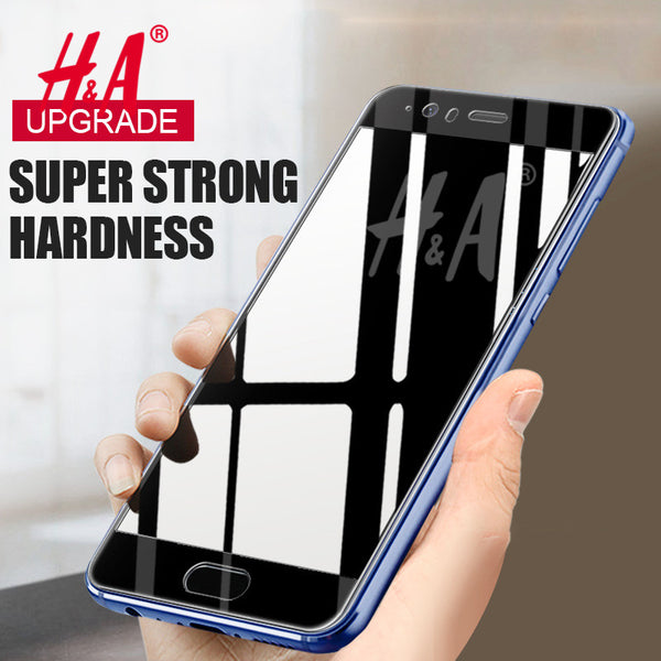 H&A Clear Full Coverage Tempered Glass For Huawei P10 lite P10 Plus Screen Protector for Huawei P10 Lite Honor 9 Tempered Glass