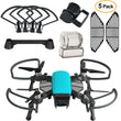 Dji Spark Accessories kit 2 In 1 Propeller Guard with Foldable Landing Gear, Gimbal Camera Guard, Lens Hood, Finger Guard Board