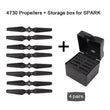Sunnylife DJI Spark Drone Accessories 4730 Foldable Compound Propeller Quick-release Blades Props + Storage Box Protection Cas