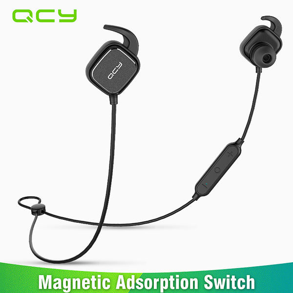 QCY QY12 magnetic switch sports headphones wireless Bluetooth earphones sweatproof running headset gamer earbuds with MIC