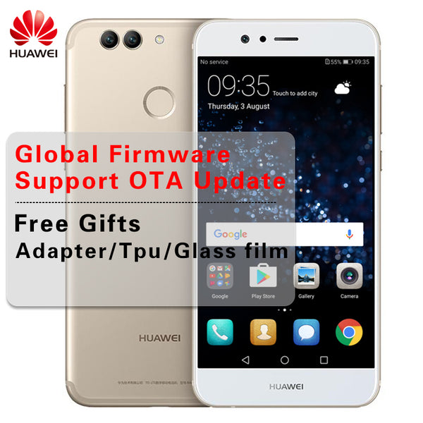 Global Firmware Huawei Nova 2 Smartphone 4GB RAM 64GB ROM Android 7.0 Octa Core 2.36GHz 5.0 Inch 1920*1080 20MP LTE Mobile Phone