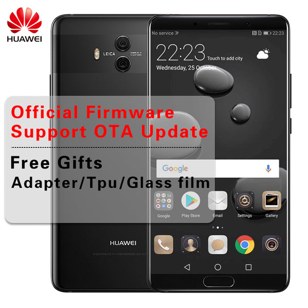 "Global Firmware Huawei Mate 10 Android 8.0 Mobile Phone Dual Rear Camera 20MP 12MP 3D Curved Glass 5.9"" 2560*1440 Octa Core"