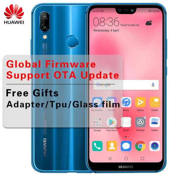 Huawei P20 Lite Global Firmware 4G LTE Smartphone Face ID 5.84 ''Full View Screen 2280*1080P Android 8.0 Glass Body 24MP