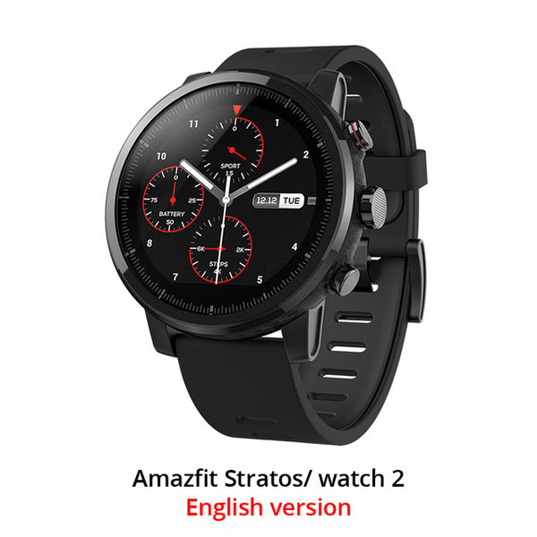 Xiaomi Huami Amazfit 2 Amazfit Stratos Pace 2 Smart Watch with GPS Xiaomi Watches PPG Heart Rate Monitor Firstbeat VO2max