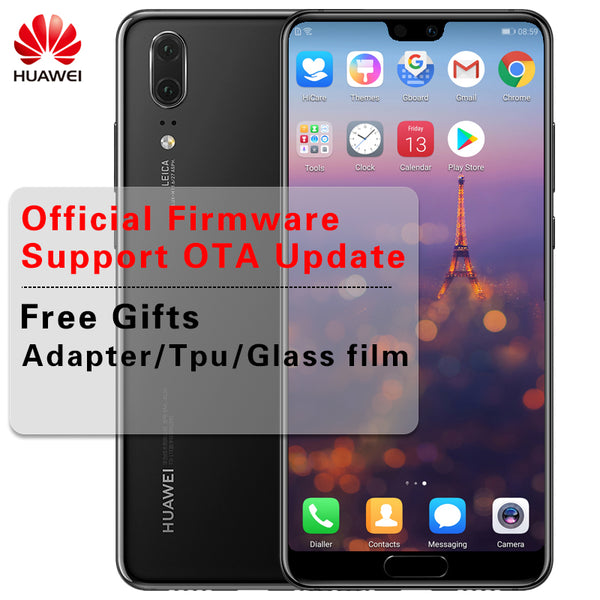 Stock Huawei P20 Smartphone Android 8.1 6G RAM 64G/128G ROM Kirin 970 Face ID 5.8'' Full View Screen EMUI 8.1 24MP Front Camera