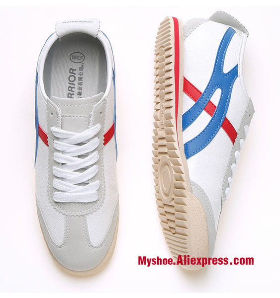 Warrior Small White  Tai Chi Shoes  canvas Kung Fu Shoes Student Tiger martial Art shoe