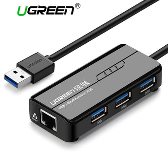 Ugreen USB Ethernet USB 3.0 2.0 to RJ45 HUB for Xiaomi Mi Box 3 Android TV Set-top Box Ethernet Adapter Network Card USB Lan