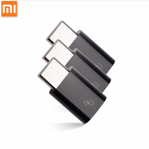 3pcs/lot Xiaomi USB Type-C Adapter Micro USB Female to USB 3.1 Typec Type C Male Cable Convertor Connector Fast Quick Charger