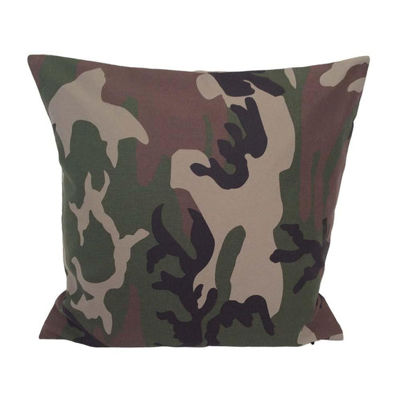 Army Camo Camouflage Woodland Leaf Pillow Case Cushion Cover Pad Pillowerus