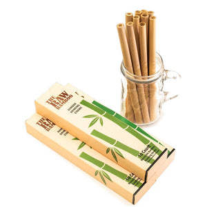 Reusable Bamboo Straws 10 Count w/ Brush
