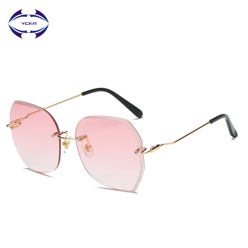 Fashion Lady Rimless Sunglasses Italy Brand