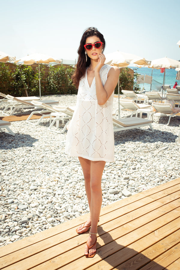 Broderie Anglaise Beach Dress