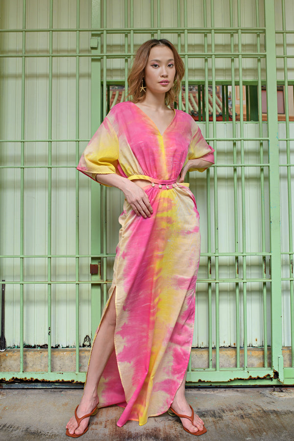 Kaftan in Tie Dye Cotton
