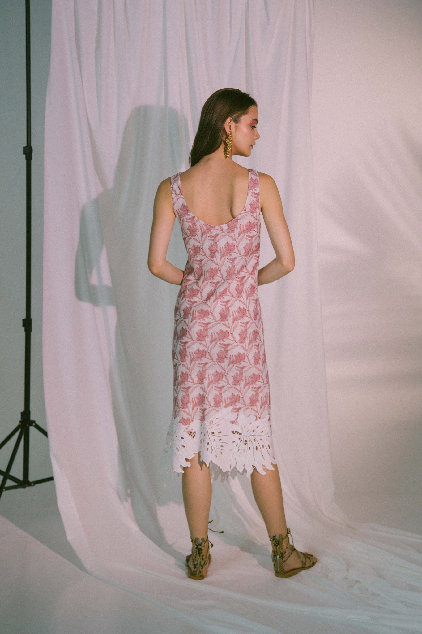 Eros Midi Dress in Canyon Rose