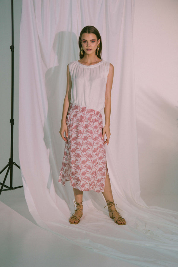 Agape Midi Dress in Canyon Rose