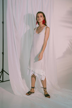 Eros Midi Dress in White