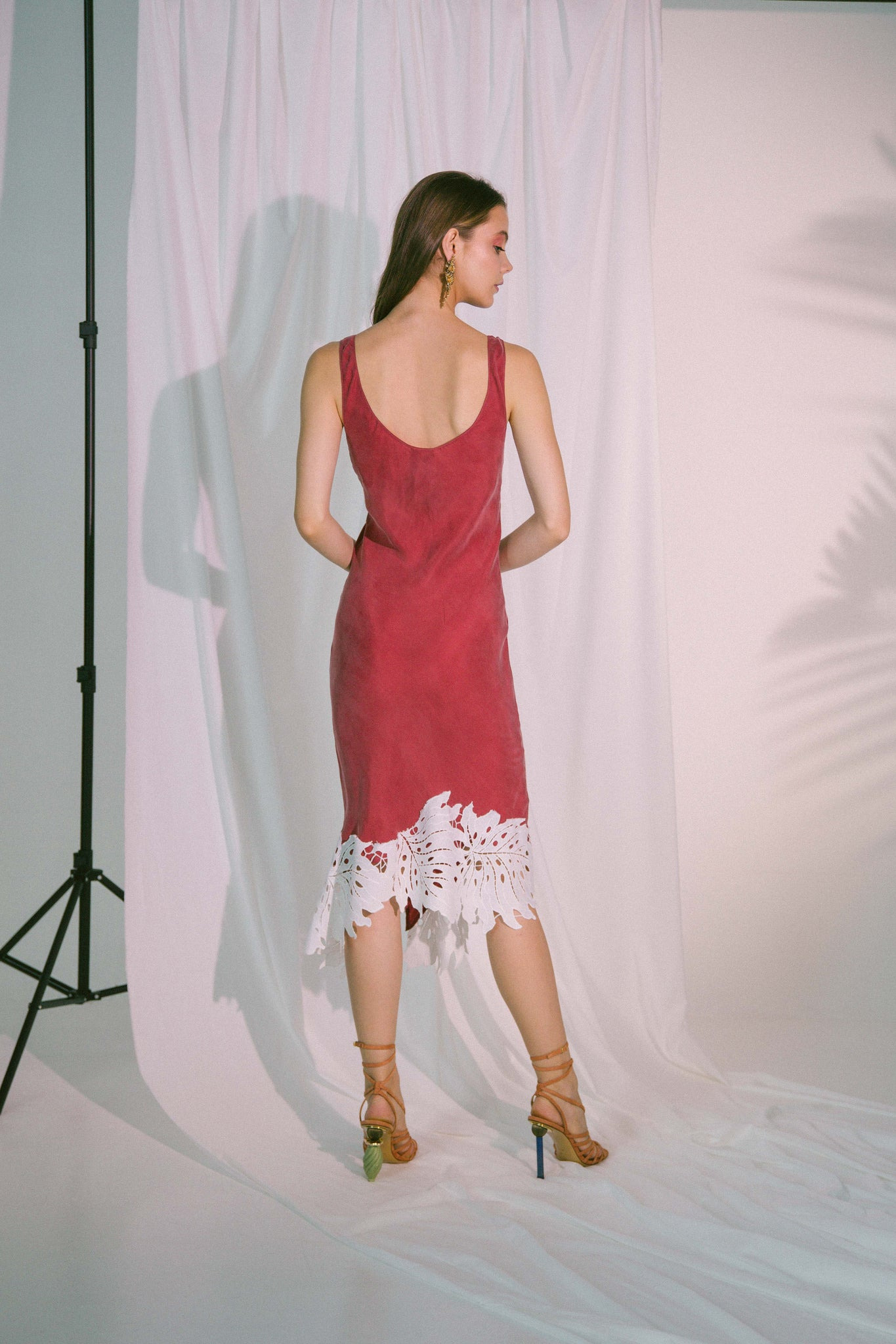 Eros Midi Dress in Claret
