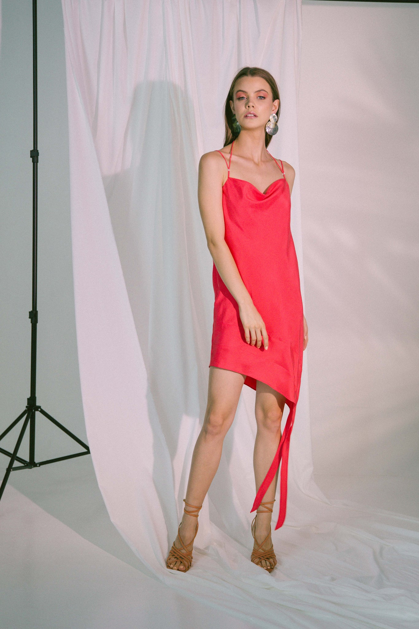 Ladder Of Love Short Dress in Pink Red