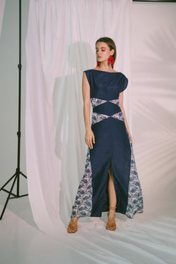 Philautia Maxi Dress in Navy