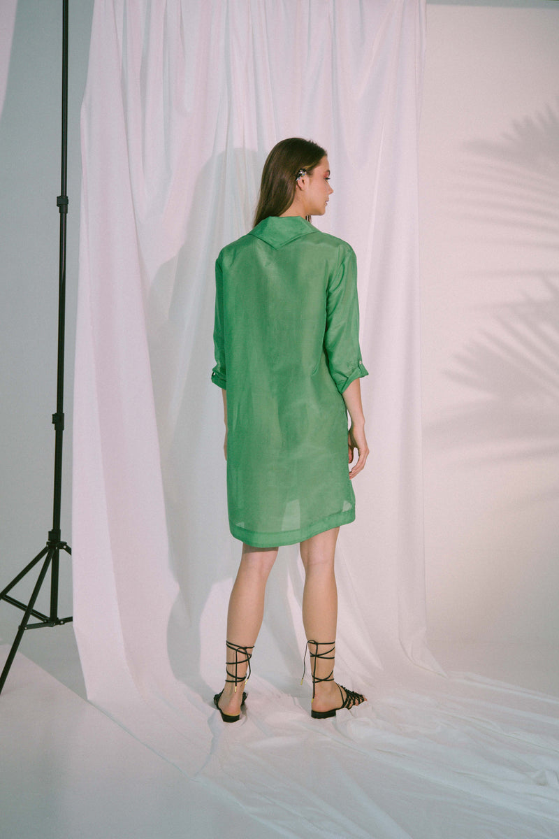 Storge Shirt Dress in Green