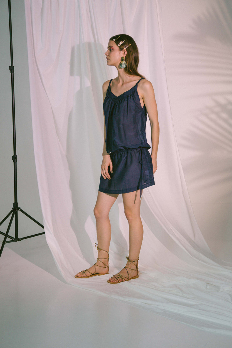 Ludus Beach Dress in Navy