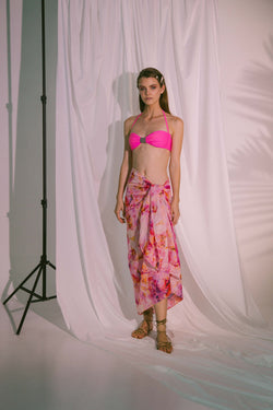 AKOSÉE Pink Watercolour Sarong
