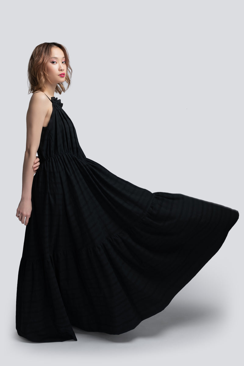 Parachute Maxi Dress in Black