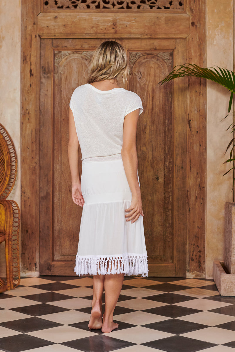 Mermaid White Tassels Dress