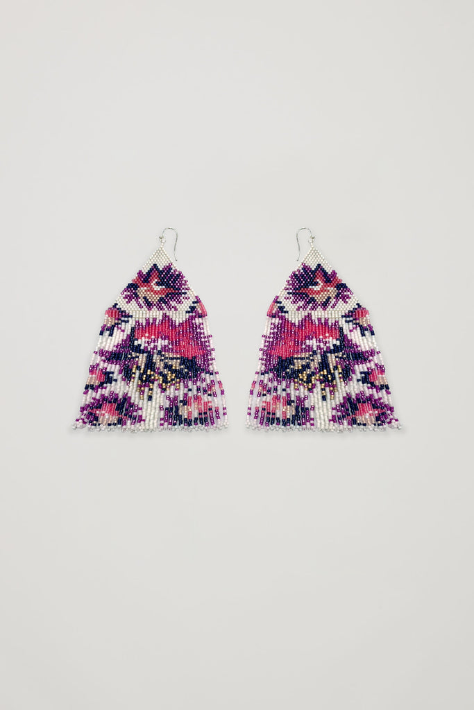 Akosée Artisan Triangle Beaded Earrings_Accesssories