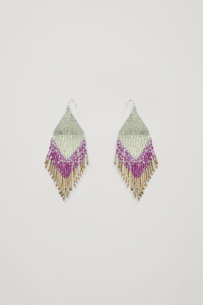 Akosée Artisan Beaded Fringe Earrings_Accesssories