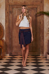 Siren Navy Blue Pleated Skirt