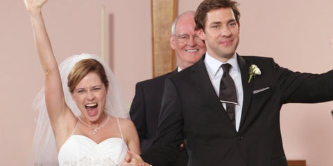 Jim And Pam Wedding.The 5 Most Memorable Tv Weddings Blacktie Com