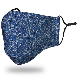 """Bandana"" Blue Face Mask"